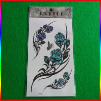 flower sexy temporary tattoo sticker, body safe tattoos Manufactures