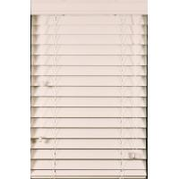 China 50mm pvc foamwood venetian blinds with steel headrail and pvc foamwood bottomrail on sale