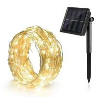 China Battery Powered Solar Powered Outdoor String Lights Decorations Waterproof Lamp on sale