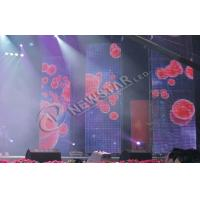 China High Power Stage Curtain LED Display Rental , p10 Indoor Led Display Screen on sale