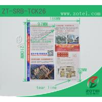 RFID folding ticket ( Product model: ZT-SRB-TCK26) Manufactures