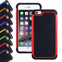 China Apple Iphone 6 plus 5.5 inch silicone cell phone covers with Hard plastic case on sale