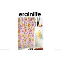 Mildewproof Flower PVC Hotel Collection Shower Curtain For Kids Manufactures