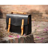 LH-62-2 Black Ladies Leather Bags Cambridge Style Leather Women Handbags Manufactures