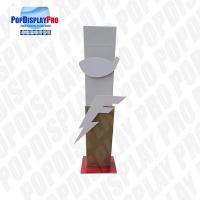 Durable Cardboard Store Standee Display Floor Standing Unit With 2*3D Logos Manufactures