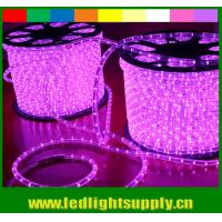 Quality ultra thin 10mm 2 wire pink led outdoor christmas rope lights for sale