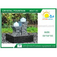 Carved Granite backyard Water Fountains Glass Crystal Balls For Decoration Manufactures