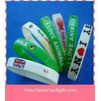 China Wholesale cheap silicone bracelets for promotion on sale