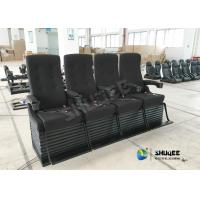 Special Effect Custom 4D Movie Theater Motion 4D Chairs Red / Black For Shopping Mall Manufactures