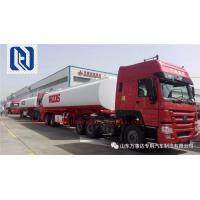 Bulk Cement Tank Trailer 50-80 Ton Loading Capacity For Cement Plant  With Bohai Air Compressor Manufactures