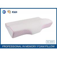Colorful Tencel Cover / Pipping Raised Curved Memory Foam Pillow 23.7X13.5X2.5-4.2 Inch Manufactures