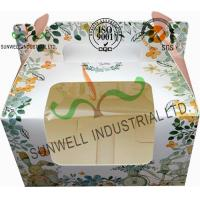 Recycled White Cardboard Cake Packaging Boxes With Lids Full CMYK Printing Manufactures