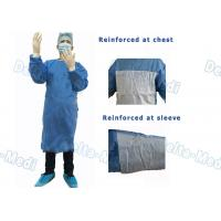China 35 - 50gsm Disposable Surgical Gown Reinforced Waterproof Latex Free on sale