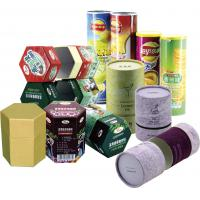 Quality Cylinder Colorful Recyclable Paper Cans Packaging for Food Cosmetics and Matches for sale