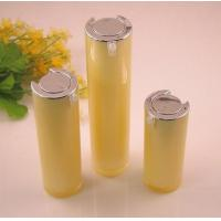15ml 30ml 50ml Yellow Round Acrylic Cosmetic Airless Bottles For Body Lotion Cream Manufactures
