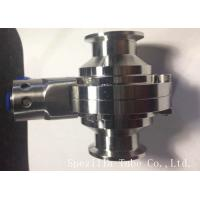 1 Inch TP316L Sanitary Stainless Steel Butterfly Valves ASTM A270 For Biotechnology Manufactures