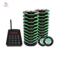 Easy operate full waterproof wireless guest calling coaster pager system with protective silicone Manufactures