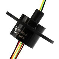 China 6 Circuits Compact Mini Slip Ring with Gold-Gold Contacts and Low electrical Noise for Precise Measuring Equipment on sale