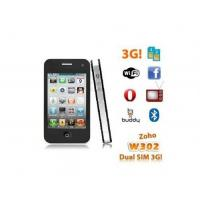 Wholesale 3G Phone WCDMA+GSM phone 4GS 3.5 inch touch screen Wifi TV mobile phone W302 Manufactures