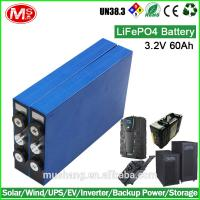 China manufacture factory price rechargeable LiFePO4 battery for solar wind energy storage Manufactures