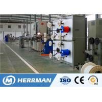 China Fiber Optic FTTH Cable Production Line For Premise Cable,  2 - 12 fibers indoor cable,Tight coating line on sale