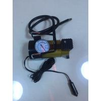 Silver And Yellow Car Tyre Pressure Pump , Heavy Duty Power 12 Volt Air Compressor Manufactures