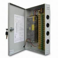 CCTV Power Supply with 220V AC/12V DC Voltage, 18-channel Inputs and Self-reset Function Manufactures