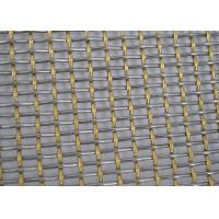 China Silver SS Double Crimped Wire Mesh For Sieving Ore Sturdy Structure on sale