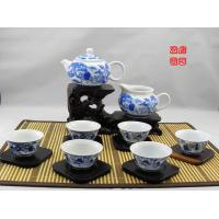 Famous Chinese Blue And White Porcelain Tea Sets With 500ml Jingdezhen Teapot Manufactures