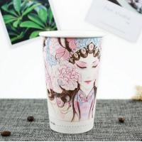 China Disposable Paper Coffee Cups 16oz , Hot Chocolate Paper Cups Food Grade Ink on sale