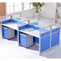 China Cusomized Wooden Material 4 Seats Office Desk Cubicle Multi Color Easy To Install on sale