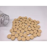 Potassium Magnesium Slow Release tablets A yellow colored, round shaped, coated tablet which compares to standard BT8R