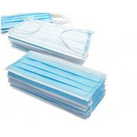 Blue 3 Layer Medical Face Mask High Filtration Efficiency  With Ear Loop Manufactures