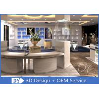 Wooden Glass Retail Store Jewelry Display Cases With Lights / Shop Display Cabinets Manufactures