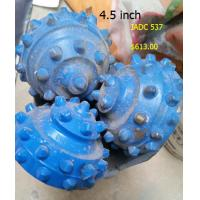4.5 Inch Tricone Drill Bits Rubber Sealed Bearing Type Cemented Carbide Material Manufactures