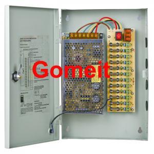 Security Camera Power Supply Box 12V , 12 Volt 12 Channel Multi Camera Power Supply Manufactures