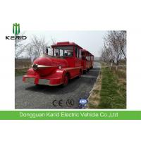 Diesel Power 42 Seats Small Trackless Train For Amusement Park Low Emission Manufactures