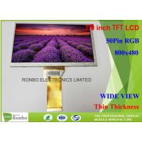 Long FPC Customized Tablet LCD Display RGB 50pin 800*480 7.0 Inch LCD Screen Manufactures