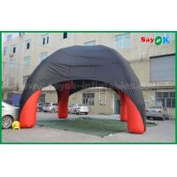 China Red / Black Spider Inflatable Dome Tent 4 Legs With Oxford Cloth Fire Retardant on sale