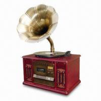 China Plastic Horn Speaker Turntable with CD/MP3 Player and AM/FM Radio on sale