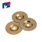 Multi Purpose Vacuum Brazed Diamond Cup Wheel , 4 Inch Diamond Grinding Disc Manufactures