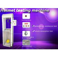 Safety Helmet Shock Absorption And Penetration Tester , Helmet Lateral Rigidity Tester Manufactures