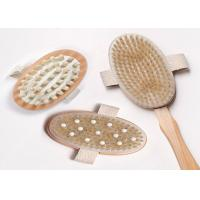 3 Detachable Heads Long Handled Body Brush With Rubber Nubs , Eco Friendly Manufactures