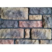 Outdoor Faux Stone Wall Panels , Multi - Shape Faux Rock Panels Manufactures
