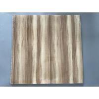 Quality Professional Wooden Flat PVC Ceiling Tiles With Stable Material 595mm / 603mm for sale