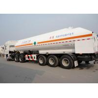 51550L 3 Axles LNG Tank Truck Trailer , Stainless Steel LNG Transport Trailers Manufactures