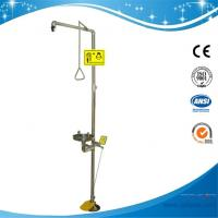 China SH712BSF-SUS304 stainless steel Pedaled emergency shower & eyewash station combination foot operated rotary shower head on sale