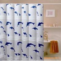 Quality Polyester Window Shower Curtain With Unique Pattern , Water Resistant drapes for sale
