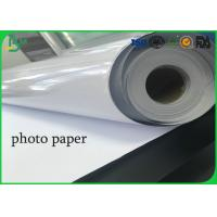 Quality Roll 24 Inch 36 Inch Absorb Printing Ink One Side High Glossy Photo Paper for sale