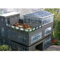 Eco Environmental Aluminium Frame Greenhouse Sunroom For High Level Villa